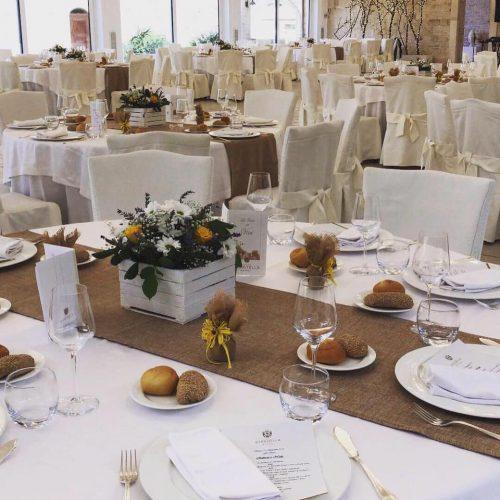 matrimonio di giorno tavoli